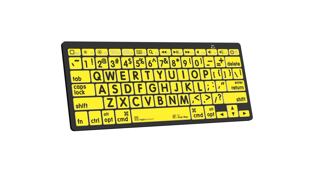 LKBU-LPRNTBY-AJPU LogicKeyboard Large Print Black on Yellow Keyboard Slim Line PC-Wired USB Plug Large Print Keyboard for Windows //PC