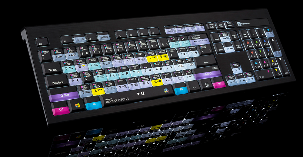Blackmagic DaVinci Resolve 16 shortcut keyboard