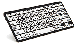 Logickeyboard Bluetooth Largeprint Black on White Keyboard