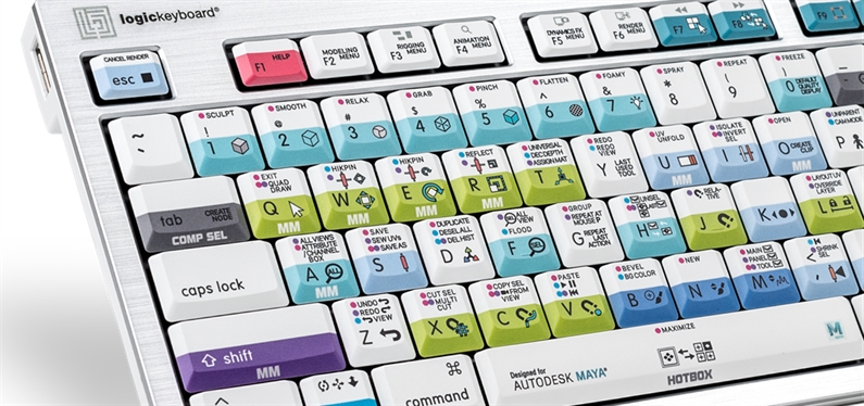 New 3D animation keyboard for Autodesk Maya