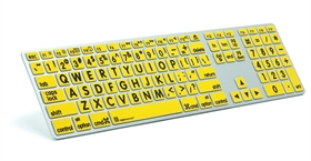 LargePrint Black on Yellow - Mac Advance Line Keyboard
