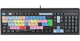 US LAYOUT PICTURE - Logickeyboard Avid Media Composer Astra Backlit American English Keyboard