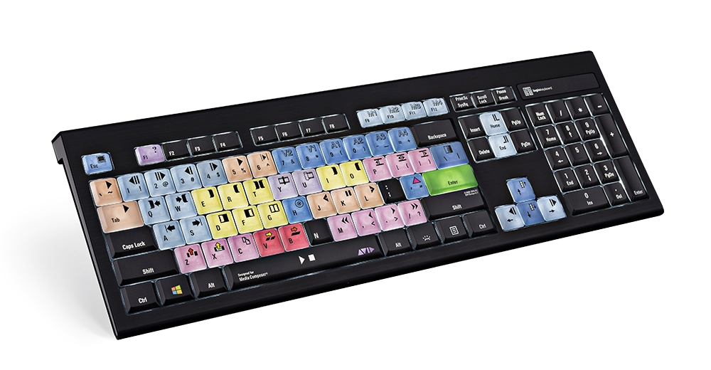 Dedicated Logickeyboard Avid Media Composer Astra Backlit Pc Keyboard