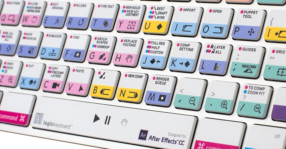 BLACK ADVANCED Ever. The Best LOGIC PRO Keyboard Shortcut Stickers