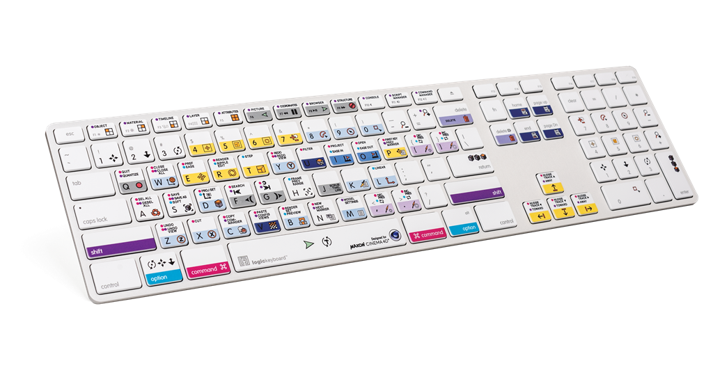 LogicKeyboard Cinema 4D Advanced Line keyboard