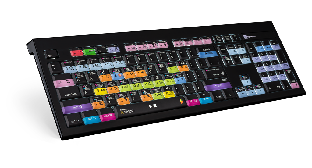 Dedicated FL Studio LogicKeyboard with colored keycaps