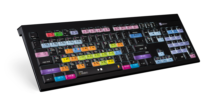 dedicated fl studio logickeyboard with colored keycaps. Black Bedroom Furniture Sets. Home Design Ideas
