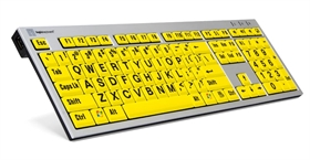 LargePrint keyboard for PC - Black on Yellow keys
