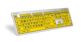 Large Print keyboard with high contrast lettering