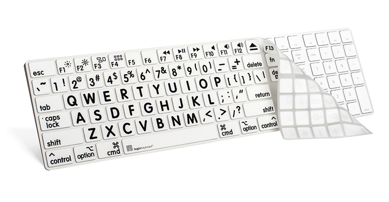 Largeprint keyboard cover for Apple Magic Numeric Keyboard