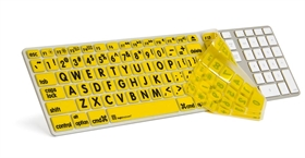 LargePrint Black on Yellow - Before 2017 Wired Keyboard Cover