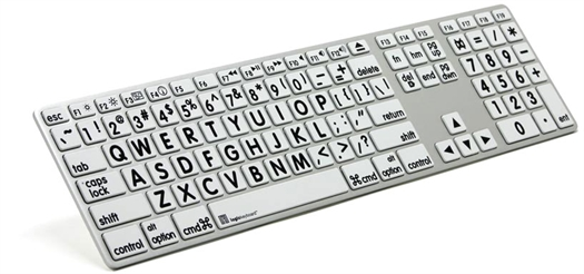 XL Print - Black on White Apple Advance Line Keyboard