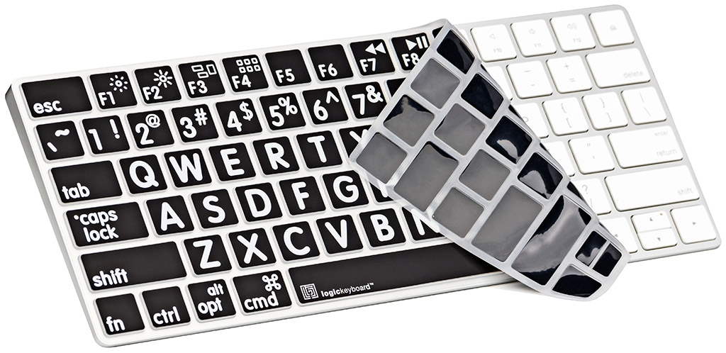 logickeyboard large print apple magic wireless keyboard cover. Black Bedroom Furniture Sets. Home Design Ideas